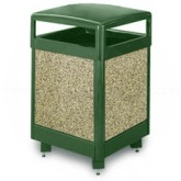 "Rubbermaid / United Receptacle R38HT Aspen Series Trash Can - 38 Gallon Capacity - 26"" Sq. x 40"" H - Thumbnail Image"