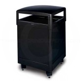 "Rubbermaid / United Receptacle R48HT-SBK Standard Series Large Capacity Trash Receptacle - 48 Gallon Capacity - 26"" Sq. x 40"" H - Thumbnail Image"