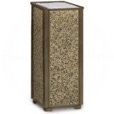 "Rubbermaid / United Receptacle R40 Aspen Series Sand Urn - 10"" Sq. x 24"" H - Thumbnail Image"