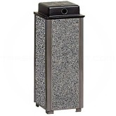 "Rubbermaid / United Receptacles FGR40WU Aspen Series Weather Ash Urn - 10"" Sq. x 27"" H - Your choice of color"
