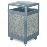 "Rubbermaid / United Receptacle R48HT Aspen Series Trash Can - 48 Gallon Capacity - 26"" Sq. x 40"" H - Thumbnail Image"