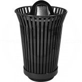 "Witt Industries RC2410-DT-BK River City Waste Receptacle with Dome Top Lid - 24 gallon capacity - 23"" Dia. x 41 1/2"" H - Black in Color"