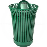 "Witt Industries RC2410-DT-GN River City Waste Receptacle with Dome Top Lid - 24 gallon capacity - 23"" Dia. x 41 1/2"" H - Green in Color"