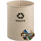 """Glaro RO1116DS RecyclePro Recycling Wastebasket - 7 Gallon Capacity - 11"""" Dia. x 16"""" H - Desert Stone in Color"""