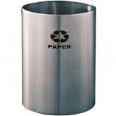 """Glaro RO1523SA RecyclePro Recycling Wastebasket - 18 Gallon Capacity - 15"""" Dia. x 23"""" H - Satin Aluminum"""