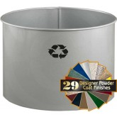 "Glaro RO1816SM RecyclePro Recycling Wastebasket - 21 Gallon Capacity - 19"" Dia. x 17"" H - Silver Metallic in Color"