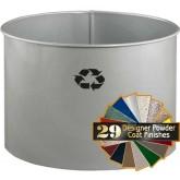 "Glaro RO1816SM RecyclePro Recycling Wastebasket - 21 Gallon Capacity - 19"" Dia. x 17"" H - Silver Metallic in Color"