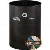 "Glaro RO21829CV RecyclePro Dual Purpose Recycling Wastebasket - 36 Gallon Capacity - 19"" Dia. x 29"" H - Copper Vein in color"