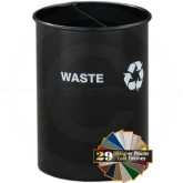 "Glaro RO266 RecyclePro Dual Purpose Recycling Wastebasket - 5 Gallon Capacity - 10"" Dia. x 15"" H - Your choice of color"