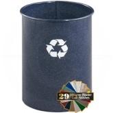 "Glaro RO66BM RecyclePro Recycling Wastebasket - 5 Gallon Capacity - 10"" Dia. x 15"" H - Blue Marble"
