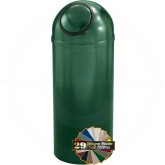 "Glaro S1251 Mount Everest Dome Top Waste Can - 8 Gallon Capacity - 12"" Dia. x 30"" H - Matching Designer Cover"