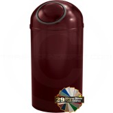 "Glaro S1550 Mount Everest Dome Top Waste Receptacle - 12 Gallon Capacity - 15"" Dia. x 30"" H - Matching Designer Cover"