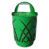 "Witt Industries Sawgrass Covington Collection Trash Can with Dome Top Lid - 40 Gallon Capacity - 24"" Dia. x 44"" H - Green in Color"