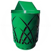"Witt Industries Sawgrass Covington Collection Trash Can with Swing Top Lid - 40 Gallon Capacity - 24"" Dia. x 44"" H - Green in Color"