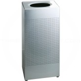 "Rubbermaid SC14SS Designer Line Silhouette Open Top Waste Receptacle - 24 Gallon Capacity - 14 3/4"" Sq. x 30"" H - Stainless Steel"