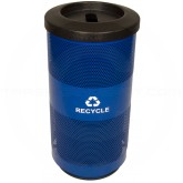 Witt Industries SC20-01-RP-BL Stadium Series Recycling Waste Receptacle with Flat Top Recycling Lid and 1 Slot Opening - Recycle Blue in Color