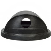 "Witt Industries SC55HT-RHH Recycling Hood Top Lid with (2) 4 1/2"" Dia. Openings - 24 3/4"" Dia. x 10"" H - Black in color"