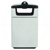 "Witt Industries SLC-2744STDHAB Poly Lite Crete Square Side Entry Receptacle wit Access Door and Hide-A-Butt Ash Urn - 47 Gallon Capacity - 26"" Sq. x 41"" H - Graystone, Whitestone or Sandstone"