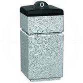 "Witt Industries SLC-1424HAB Poly Lite Crete Square Hide-A-butt Ash Urn - 14"" Sq. x 24"" H - Graystone, Whitestone or Sandstone"
