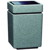 "Witt Industries SLC-2436T Poly Lite Crete Square Open Top Receptacle - 47 Gallon Capacity - 24"" Sq. x 36"" H - Graystone, Whitestone or Sandstone"
