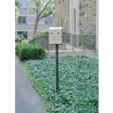 "Rubbermaid / United Receptacle FGSSIG Smoker's Station In-Ground Mounting Pole - 2"" Dia. x 69"" H"
