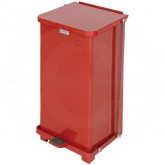 "Rubbermaid FGST12ERD Square Step On Trash Can - 12 Gallon Capacity - 12"" Sq. x 23"" H - Red in Color"