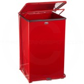 "Rubbermaid FGST40ERD Square Step Can - 40 Gallon Capacity - 19"" Sq. x 30"" H - Red in Color"