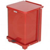 "Rubbermaid FGST7ERD Square Step On Trash Can - 7 Gallon Capacity - 12"" Sq. x 17"" H - Red in Color"