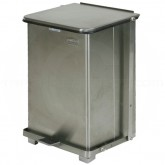 "Rubbermaid FGST7SS Square Step On Trash Can - 7 Gallon Capacity - 12"" Sq. x 17"" H - Stainless Steel"