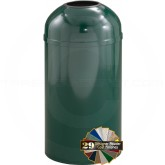 "Glaro T1550 Mount Everest Open Dome Top Waste Can - 12 Gallon Capacity - 15"" Dia. x 30"" H - Matching Designer Cover"