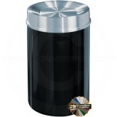 "Glaro TA2035 Mount Everest Tip Action Self Closing Garbage Can - 33 Gallon Capacity - 20"" Dia. x 35"" H - Satin Aluminum Cover"
