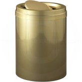 "Glaro TA2037GB Value Tip Action Top Garbage Can  - 41 Gallon Capacity - 20"" Dia. x 31"" H - Gloss Brass"