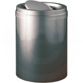 "Glaro TA2037GC Value Tip Action Top Garbage Can  - 41 Gallon Capacity - 20"" Dia. x 31"" H - Gloss Chrome"