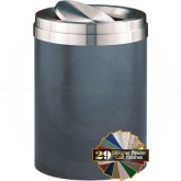 "Glaro TA2037SVSA Value Tip Action Top Garbage Can  - 41 Gallon Capacity - 20"" Dia. x 31"" H - Silver Vein with Satin Aluminum Top"
