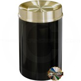 "Glaro TA2041 Mount Everest Tip Action Self Closing Waste Can - 33 Gallon Capacity - 20"" Dia. x 35"" H - Satin Brass Cover"