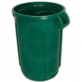 "Imprezza VCR44DGRN-HD Vulcan HD Heavy Duty Round Container with Venting Channels - 44 Gallon Capacity - 23 1/2"" Dia. x 30 1/2"" H - Dark Green in Color"