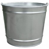 "Witt Industries W10100 Light Duty Pregalvanized Metal Pail - 10 Quart Capacity - 10 1/4"" Dia. x 9 1/4"" H"