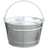 "Witt Industries W10161 Light Duty Pregalvanized Metal Pail - 16 Quart Capacity - 14"" Dia. x 8 1/4"" H"
