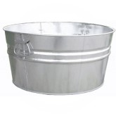 "Witt Industries W14300 Light Duty Pregalvanized Metal Tub - 19 Gallon Capacity - 24 1/4"" Dia. x 11"" H - 1 pack of 6"