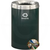 "Glaro W2032 Recycle Pro 1 Trash Can - 33 Gallon Capacity - 20"" Dia. x 31"" H - Your choice of color"