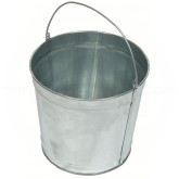 "Witt Industries W2QTG Light Duty Pregalvanized Metal Pail - 2 Quart Capacity - 6"" Dia. x 5 3/4"" H"