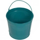 "Witt Industries W5PC Powder Coated Metal Pail - 5 Quart Capacity - 8 3/4"" Dia. x 7 1/4"" H - 1 pack of 12 - Your choice of color"
