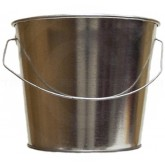 "Witt Industries W5QTG Light Duty Pregalvanized Metal Pail - 5 Quart Capacity - 8 3/4"" Dia. x 7 1/4"" H"