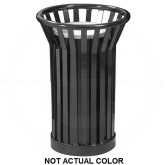 "Witt Industries WC2000-SLV Wydman Collection Round Slatted Metal Ash Urn - 24 Gallon Capacity - 17"" Dia. x 26"" H - Silver in Color"
