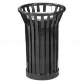 "Witt Industries WC2000-BK Wydman Collection Round Slatted Metal Ash Urn - 24 Gallon Capacity - 17"" Dia. x 26"" H - Black in Color"