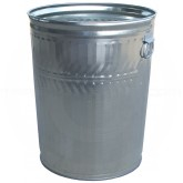 "Witt Industries WCD32C Light Duty Galvanized Metal Trash Can - 32 Gallon Capacity - 21 1/4"" Dia. x 26 1/4"" H"