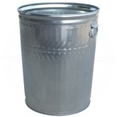 "Witt Industries WHD32C Heavy Duty Galvanized Metal Trash Can - 32 Gallon Capacity - 21 1/4"" Dia. x 26 1/4"" H"