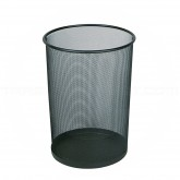 "Rubbermaid FGWMB20BK Concept Collection Round Mesh Wastebasket - 11 1/2"" Dia. x 14"" H - Black in Color - Carton of 6"
