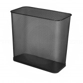 "Rubbermaid FGWMB30RBK Concept Collection Rectangular Mesh Wastebasket - 16"" W x 14"" H x 8 1/2"" D - Black - Carton of 3"