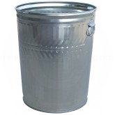 "Witt Industries WMD32C Medium Duty Galvanized Metal Trash Can - 32 Gallon Capacity - 21 1/4"" Dia. x 26 1/4"" H"